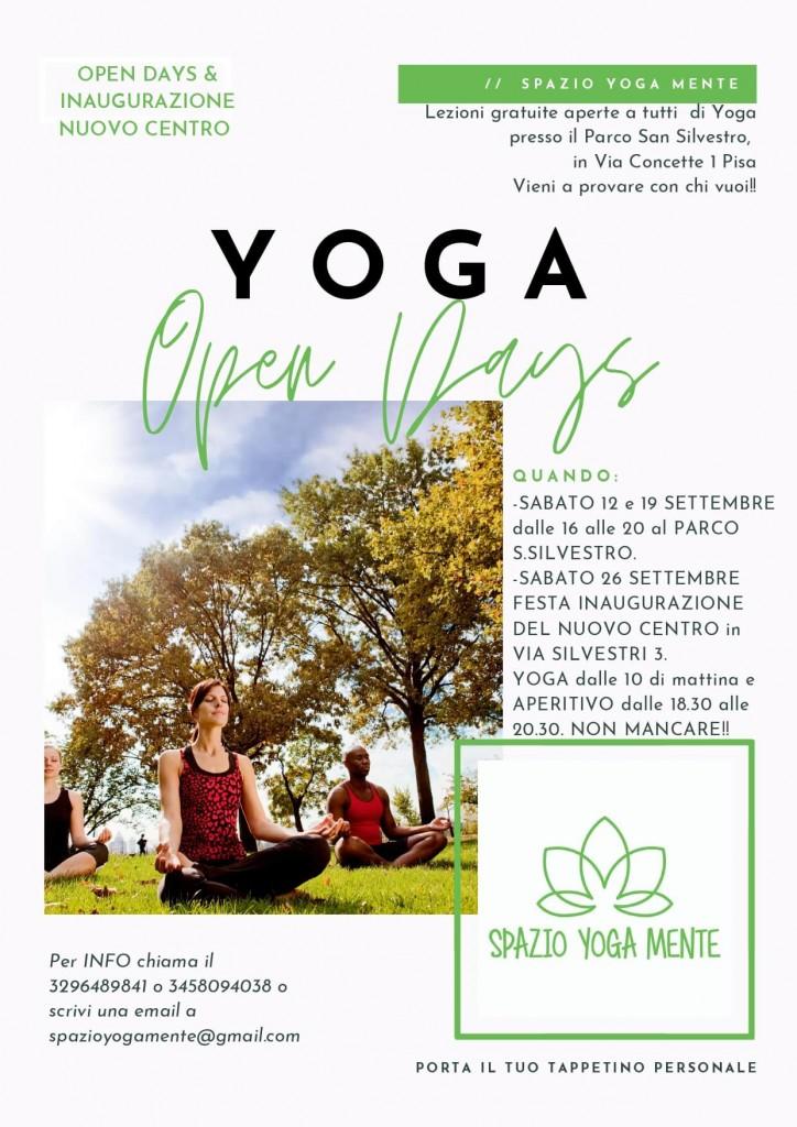 Yoga Open Days Settembre - Spazio Yoga Mente